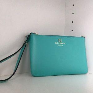 Aqua Blue Mini Kate Spade Clutch Hand Bag